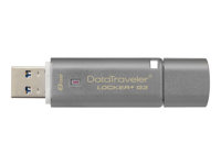 Kingston DataTraveler Locker+ G3 - USB flash-enhet - krypterat - 8 GB - USB 3.0 DTLPG3/8GB