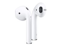 Apple AirPods with Charging Case - 2nd Generation - riktiga trådlösa hörlurar med mikrofon - öronknopp - Bluetooth - för iPhone 11 MV7N2ZM/A