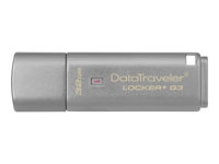 Kingston DataTraveler Locker+ G3 - USB flash-enhet - krypterat - 32 GB - USB 3.0 DTLPG3/32GB