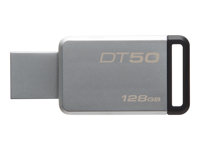 Kingston DataTraveler 50 - USB flash-enhet - 128 GB - USB 3.1 - svart DT50/128GB